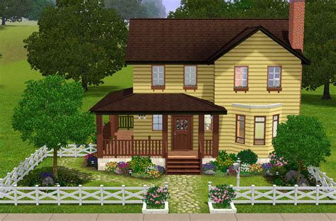 Country House Plans With Wrap Around Porch Mod The Sims Cozy Farmhouse 3 Bed 2 Bath