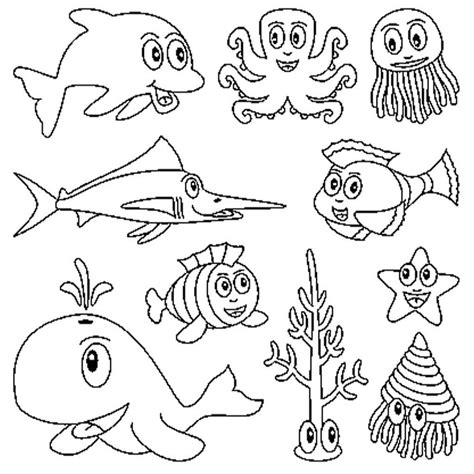 imagenes de animales marinos para colorear animales marinos para colorear e imprimir pintar crafts