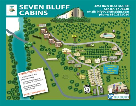 map of concan texas frio river cabins seven bluff cabins and rv in concan texas