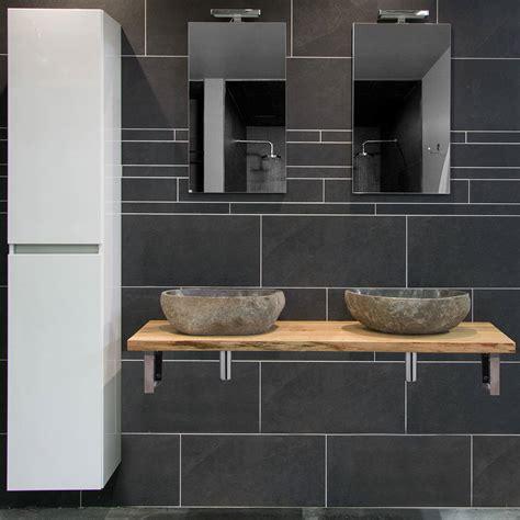 natuursteen badkamermeubel moetz badkamermeubel houten wastafel waskomen megadump
