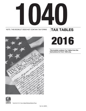 1040 2016 tax table 2017 form irs 1040 tax table fill printable