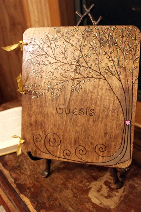 Handmade Guest Book Wedding - custom wedding guest book tree