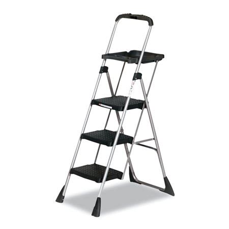 Cosco Max Work Platform Step Stool by Cosco Max Work Steel Platform Ladder 22w X 31d X 55h 3
