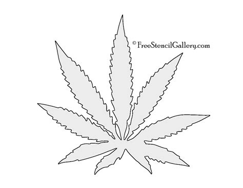 Pot Leaf Template leaf stencil images search