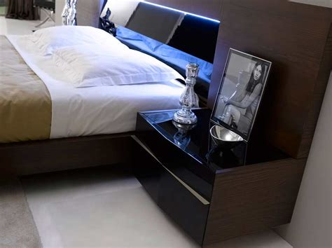 bedroom set with led lights contemporary bed with led light sj belia contemporary