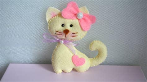 Felt Paper Crafts Ideas - make a felt cat diy crafts guidecentral