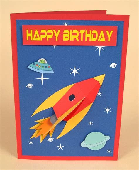 rocket card template card templates for 3d space rocket greeting card