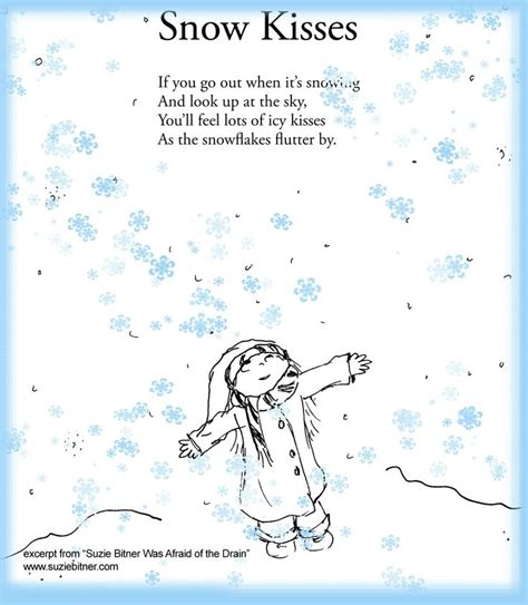 snowflake kisses books 25 best ideas about children poems on