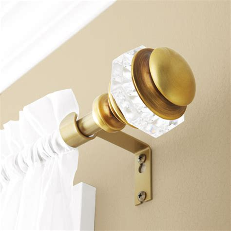 better homes curtain rods better homes and gardens faceted antique brass curtain rod