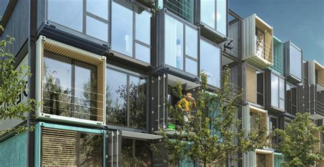 Shipping Container Apartments Striking Apartment Complex Is Made Of 48 Shipping Containers Inhabitat Green Design
