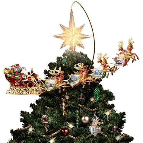 rotating christmas tree topper tree toppers crown myideasbedroom