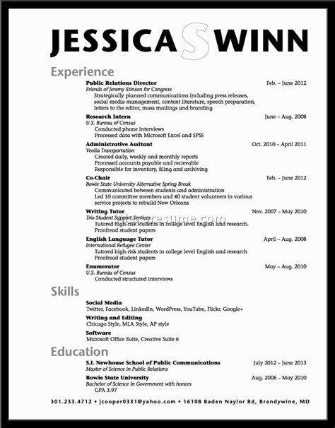 Resume Templates For Graduates High School Resume Exles Pdf Svoboda2