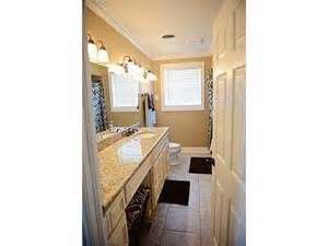 seating vanity area built into bathroom counter