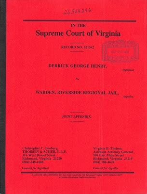 Court Records Virginia Virginia Supreme Court Records Volume 265 Virginia