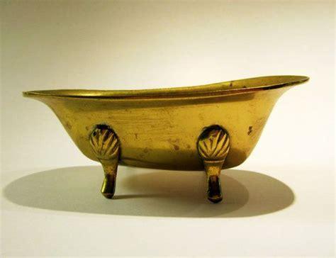 miniature clawfoot bathtub brass clawfoot tub nice patina victorian miniature