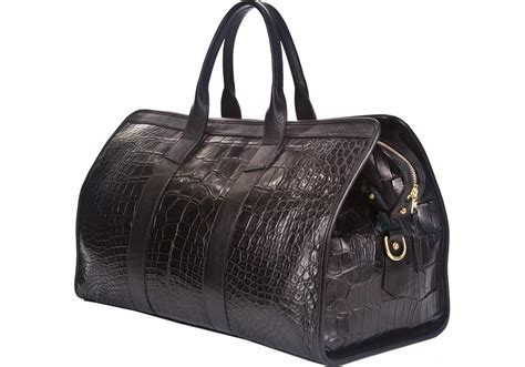 Bangkit Black Travel Bag american alligator duffle travel bag travel bags 183 lotuff leather