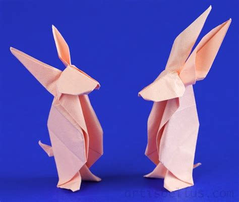 easter two origami bunnies origami artis bellus