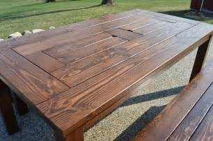Patio Table Plans Free by Remodelaholic Build A Patio Table With Built In Ice Boxes