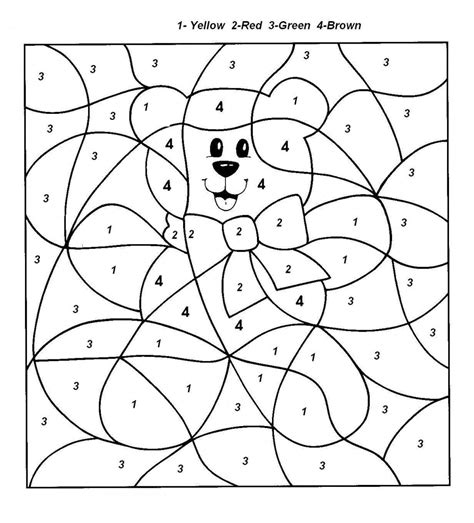 pages by number color by number coloring pages disney coloring pages