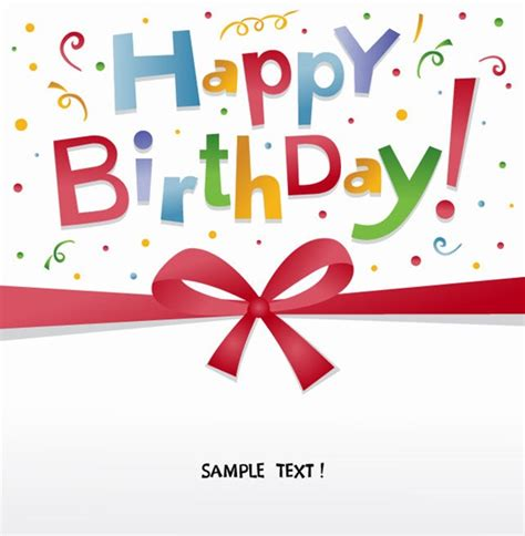 happy birthday card design vector illustration free happy birthday greeting card vector free vector