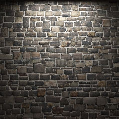 fresh interior stone wall tile 5589 illuminated stone wall made in 3d graphics stock photo