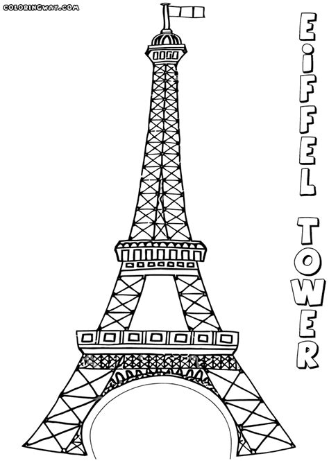 coloring page of eiffel tower eiffel tower coloring pages coloring pages to download