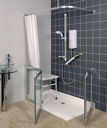 Contour Corner Access Wf1 Luxe Silver Half Height Shower Half Height Shower Doors