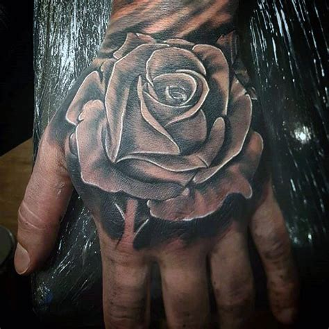 rose on hand tattoo 80 black designs for ink ideas