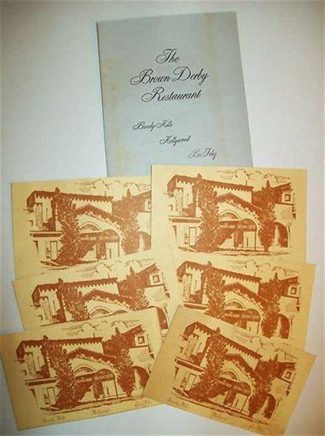 Browns Restaurant Gift Card - vintage souvenir menu post cards quot the brown derby restaurant quot beverly hills ebay a