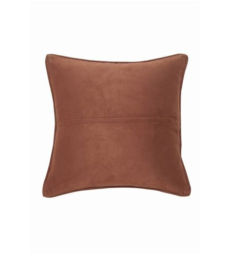 Brown Patterned Cushions | justanned brown patterned leather and fur cushion cover by