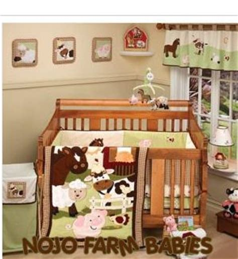 Nojo Farm Babies Crib Bedding Set Farm Theme Nojo Babies Baby Crib Bedding Set Pigs Ponies