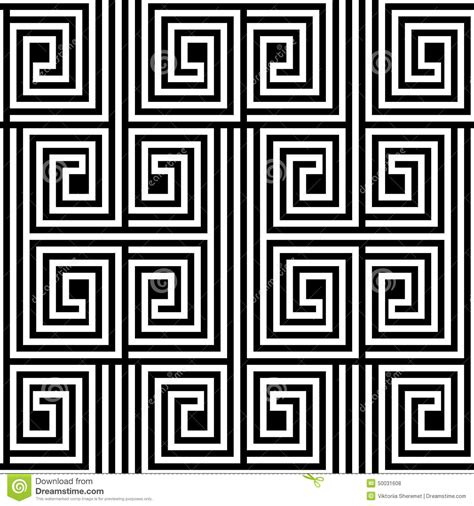 Greek Zig Zag Pattern | abstract black and white zigzag vector seamless pattern