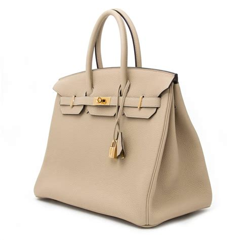 brand new herm 232 s birkin 35 trench togo for sale at 1stdibs