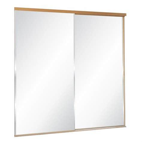 frameless sliding mirror closet doors when i can truporte 60 in x 80 in 325 series steel white frameless
