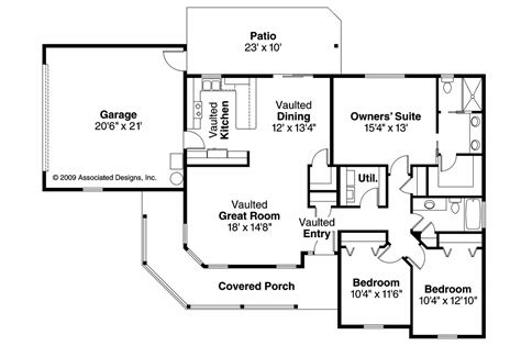 floor plans for home country house plans peterson 30 625 associated designs
