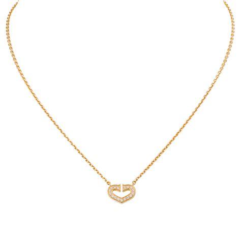 cadena cartier original cartier logo double c necklace in pink gold with diamonds
