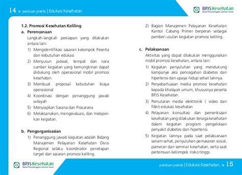 membuat proposal tentang kesehatan buku panduan praktis bpjs kesehatan edukasi kesehatan