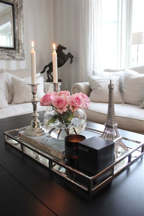 how to decorate an ottoman coffee table 25 best ideas about mirror tray on mirrored