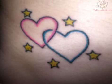 3 intertwined heart tattoo designs hearts moon and wrist maybe do five hearts
