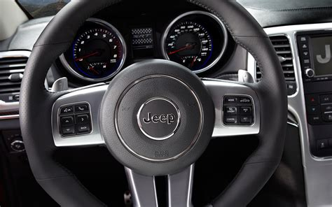 custom jeep steering wheel first drive 2012 jeep grand cherokee srt8 photo gallery