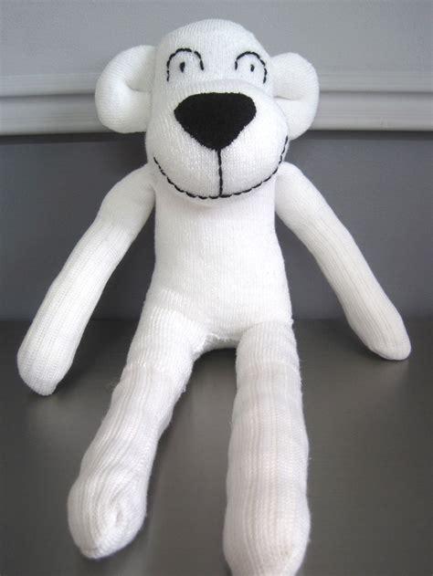 polar sock monkey white sock polar sewing animals