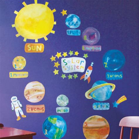 solar system wall stickers solar system children s wall stickers
