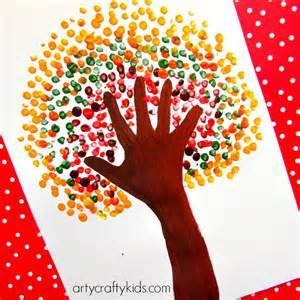 Mixing Paint Instagram autumn handprint tree arty crafty kids