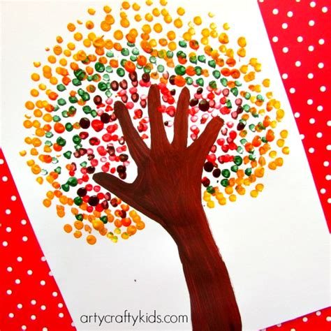 3 handprints tree autumn handprint tree arty crafty