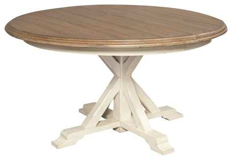 Beachy Dining Table Expandable Dining Table White Oak 54 Quot Style Dining Tables By Zin Home