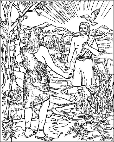 Baptism Of Jesus Coloring Page Baptism Of Jesus Coloring Page