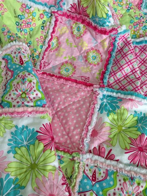 How To Make A Rag Quilt With Cotton Fabric by Cotton And Minky Rag Quilt Patchwork Rag Blanket Baby