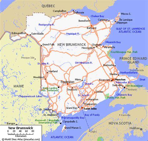 map of maine usa and new brunswick canada new brunswick tours maps