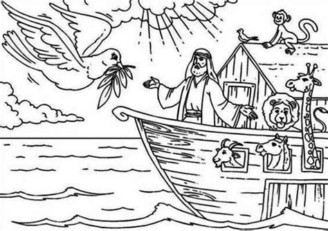 coloring pages of noah s ark with rainbow noah ship cartoon coloring page more images of noahs ark