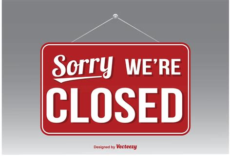 we are closed sign template we re closed vector sign free vector stock